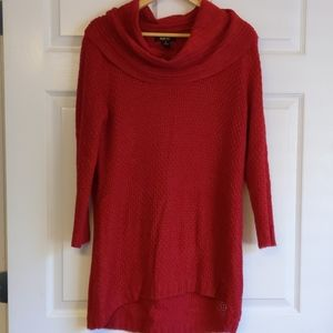 Holiday red Hi-Lo sweater
